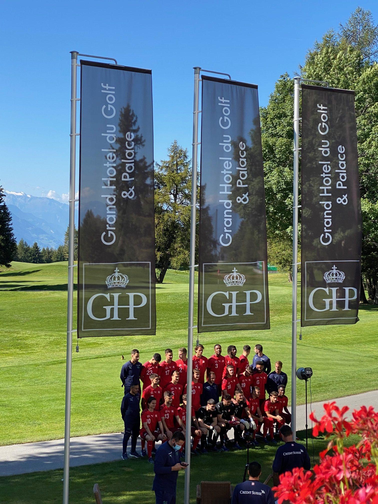 L'équipe nationale suisse de foot au Grand Hôtel du Golf & Palace